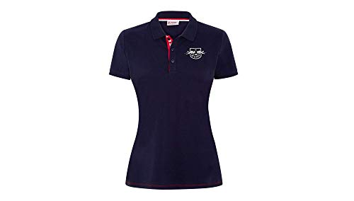 RB Leipzig Team Tape Polo, Blau Damen Small Polo Shirt, RasenBallsport Leipzig Sponsored by Red Bull, Original Bekleidung & Merchandise