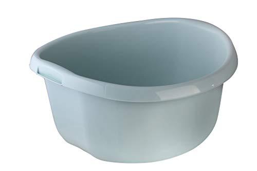 KADAX Runde Kunststoffschüssel. Becken tief und robust. Schüssel, Waschschüssel, Spülwanne Groß Eignet Sich hervorragend für das Badezimmer, den Waschraum, die Küche und das Haus (Grün, 30L)