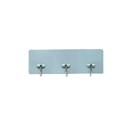 N-brand Pulabo - Soporte de pared autoadhesivo para colgar ropa, baño, cocina, toalla, soporte para utensilios de cocina, color azul, portátil y útil de alta calidad