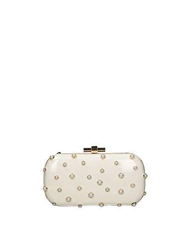 Borsa Liu Jo minaudiere pearls clutch N19244 E0008 off white