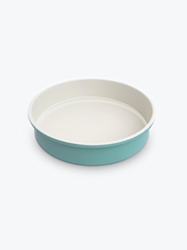 GreenLife Ceramic Non-Stick Round Cake Pan, Turquoise -
