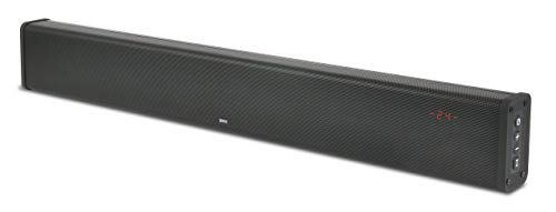 ZVOX SB500 Aluminum Sound Bar with Built-In Subwoofer, Bluetooth Wireless Streaming, AccuVoice Black Aluminum