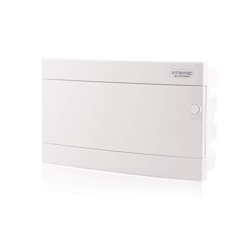 Zekeringkast inbouw IP40 verdeler behuizing 1-rij tot 18 modules witte deur voor droogkamer installatie in huis