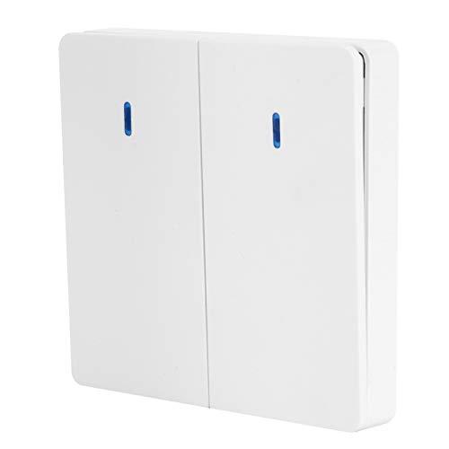 Zerodis Interruptor de Pared Panel de Control Doble de una vía Interruptor Remoto Dispositivo de Control Inteligente 220V para Oficina en casa