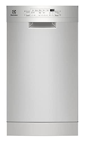 Electrolux ESS42200SX - Lavavajillas, 45 cm, 9 cubiertos, 47 decibelios, acero inoxidable