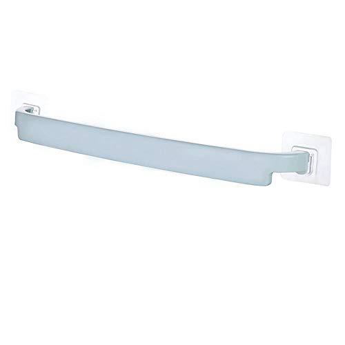 Handige aan de muur gemonteerde badkamerhanddoekhouder Plank Zelfklevende rekhouder Toiletrolpapier Badkamer Hangende hanger-Blauw