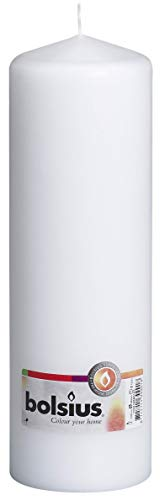 Bolsius, White, Pillar Candle 250 x 80