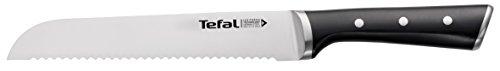 Tefal Ice Force Brotmesser K23204 | 20cm | Handschutz | Langlebig | Korrosionsschutz | Edelstahl/schwarz