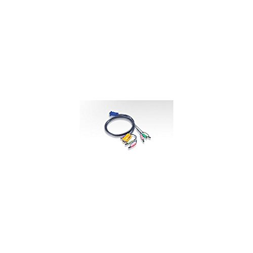 ATEN 2L-5302P - Tastatur- / Video- / Maus- / Audio-Kabel - PS/2, HD-15, Mini-Phone Stereo 3,5 mm (M) bis Mini-Phone Stereo 3,5 mm, 15-polig SPHD (M) - 1.83 m - für ATEN CS1732, CS1734; Master View max CS-1754, CS-1758; MasterView CS-1732, CS-1734