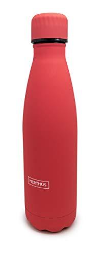 Nerthus 1 Botella térmica Acero 500 ml Coral Double Wall Bottle, Inoxidable
