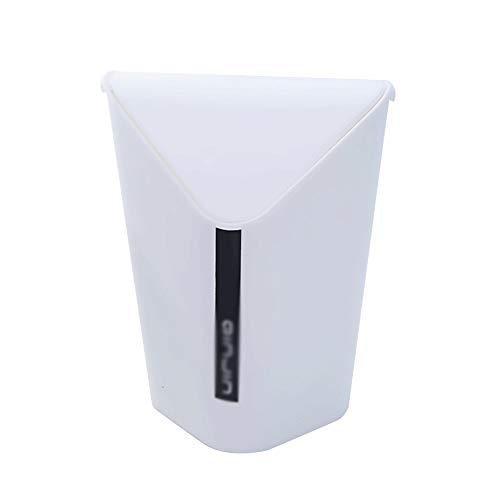 ZYING Cubo de Basura portátil de Cocina para Oficina, Bote de Basura pequeño, Mini Basura de Escritorio, Papelera de Mesa pequeña para Escritorio, Cubo de Basura para Coche (Color : B)