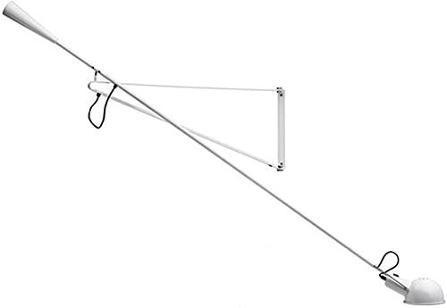 JeeKoudy Lámpara de Pared Retro de Brazo Largo con Enchufe E27 Lámpara de Pared Antigua Industrial Ajustable con Cable de alimentación e Interruptor Luminaria de lámpara giratoria