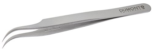 Neolab 2-1047 DUMONT-pincet van Dumoxel, nr. 7, gebogen, puntdikte 0,03 mm