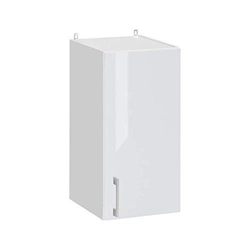 Cuisineandcie - Meuble haut de cuisine - 1 porte, L 30 cm - blanc brillant