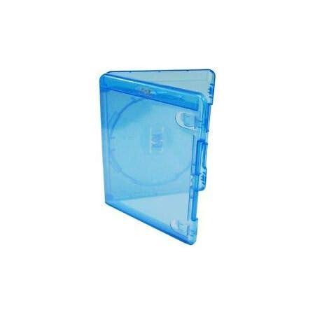 Amaray - Lote de 10 fundas de almacenamiento para Blu-Ray (14 mm, 1) disco con logo en embalaje de marca Dragon Trading®