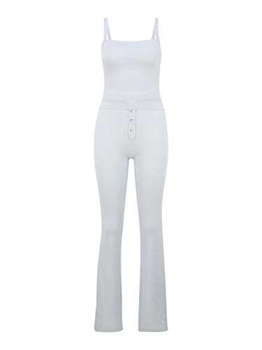 Missguided (Tall) Damen Jumpsuit weiß 16 (XXL)