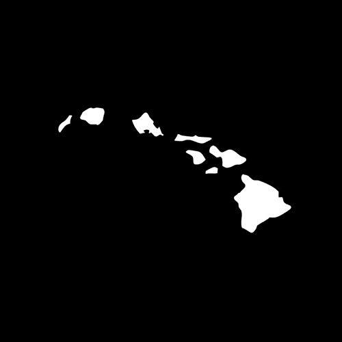 pegatinas coche familia 16.4CM X los 8.8CM Moda islas de Hawai Mapa del coche del vinilo-styling de la etiqueta engomada del coche Negro de plata gráfica / pegatinas de coche ( Color Name : Silver )