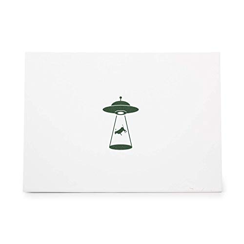 Alien Abduction Cow, Rubber Stamp Shape Great for Scrapbooking, Crafts, Card Making, Ink Stamping Crafts, ID 988806