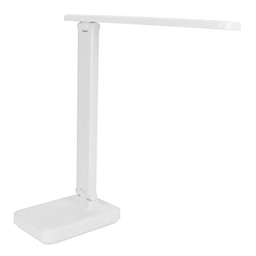 Sanpyl Lámpara de Mesa, lámpara de mesita de Noche, Regulable de Espectro Completo de Tacto Ajustable para Dormitorio de Oficina(White)