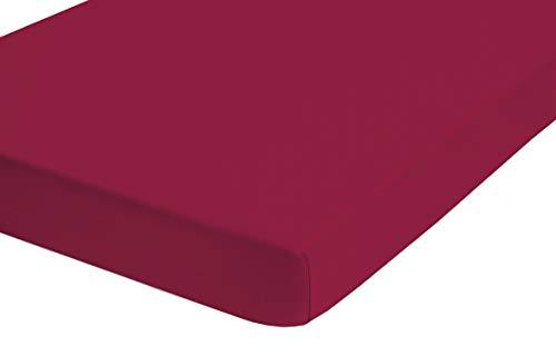 biberna 0077641 Spannbetttuch Topper Jersey-Elastic (Topperhöhe 8-12 cm) 1x 90x190 cm > 100x220 cm sortiert