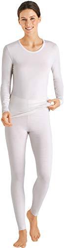 Hanro Damen Hanna Legging Pyjamahose, cremefarben, Medium
