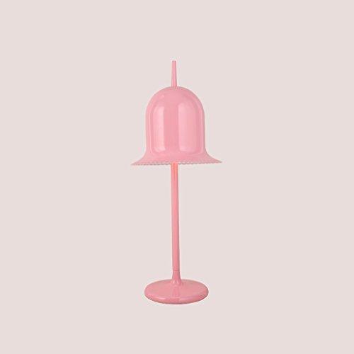 Crayom Lampe de bureau postale moderne Nordic Dutch iron bell Gentleman Bell femme fille rose fille tablette légère en dentelle lampe de table lampe applique hauteur: 78cm