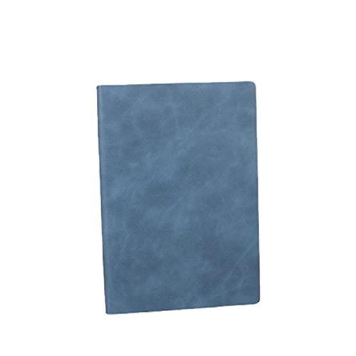 Cuaderno A5 / Notepad Azul - Line Mined A5 Diario Cuaderno con Papel Premium, Funda Soft, 160 Páginas, 80gsm, Negocio Caballero de Engrosamiento