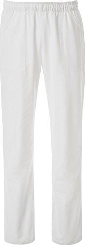 JOBLINE Hose MIT Kordelzug UND WEISSEN Taschen; 100% Baumwolle - XS - Bianco