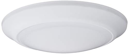 Westinghouse Lighting 6364500 7-3/8-Inch Dimmable Energy Star Indoor/Outdoor Surface Mount Wet Location, White Finish with Frosted Lens LED Ceiling Fixture