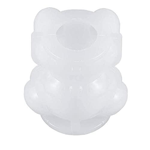 Kacniohen Molde de Silicona de Hielo en Forma de Oso 3D del Cubo de Hielo Vela del jabón de la Torta del Caramelo de DIY Que Hace la Herramienta S Duradero