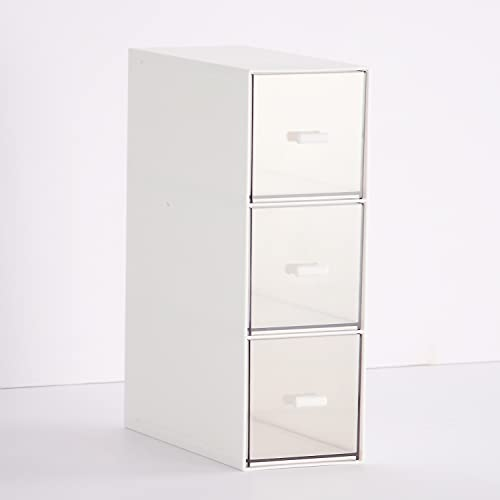Faffooz Organizer per Cosmetici Porta Trucchi con Cassetti cassettiera per trucco Scatola Contenitori Per Cosmetici per Cosmetici, Gioielli e Accessori Cosmetic Organizer(verticale 3 drawer)