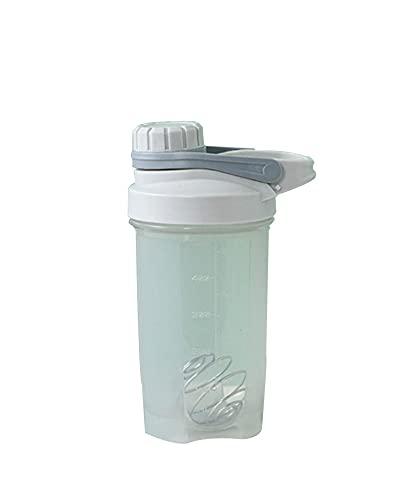 NOERTYB Botella De Agua Botella De Aptitud De La Botella De Agitador Portátil Botella De Deportes Con Bola De Agitación Cubierta A Prueba De Fugas Botella De Agua Al Aire Libre