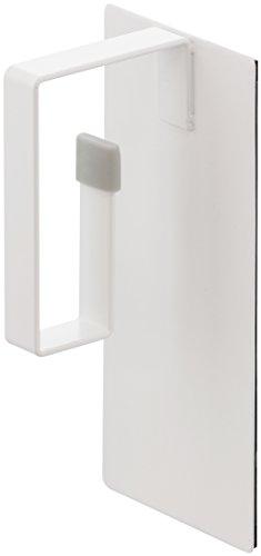 山崎実業 マグネット 洗濯機横 洗濯ネットハンガー プレート ホワイト 約W7XD6XH16cm Plate 3584