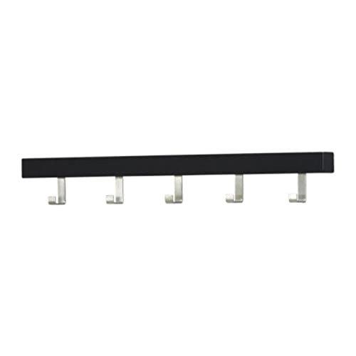 Ikea Tjusig - Perchero de pared con pomos, color negro