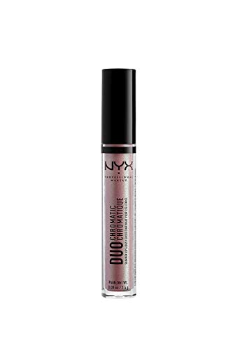 NYX PROFESSIONAL MAKEUP Duo Chromatic Lip Gloss - The New Normal, Light Rose With Holographic Pearl