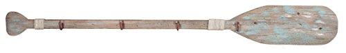 Biscottini Attaccapanni da Parete a Forma di Remo in Legno massello L120XPR5XH15 cm