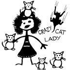 Crazy Cat Lady Stick Figure
