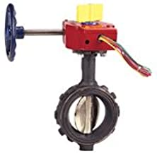 Nibco 6 in. 250 psi Ductile Iron Wafer Butterfly Valve Gear Operator Switch