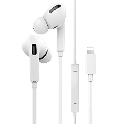 In-Ear-Kopfhörer Kopfhörer mit integriertem Mikrofon und Lautstärkeregler, kabelgebundene Ohrhörer Bluetooth-Funktion Kompatibel mit iPhone 12/7/8/8 P/X/11/XS Max/XR-Unterstützung Alle iOS-Systeme