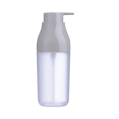 Distributeur de Savon 420 ML Bleu Vert Blanc Distributeur de Savon Shampooing Ménage Lotion Bouteille Gel Douche Distributeur de Savon (Color : Gray)