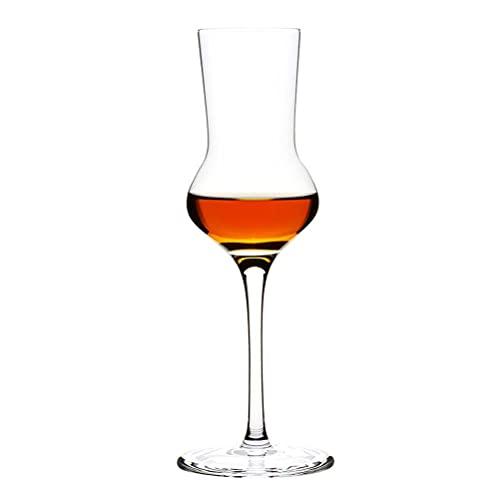 PQQ Vasos de degustación de Whisky Copas de Vino de Cristal Altas Copas de Licor para Beber Whisky Cócteles Vasos de Brandy para Regalos del día del Padre Bares de Fiesta Hogar