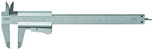 Vogel Taschen-Messschieber (Messbereich 150 mm / 6 Inch, Schnabellänge 40 mm, Messspitzen Kreuzform, mit Momentklemme) 201020-2