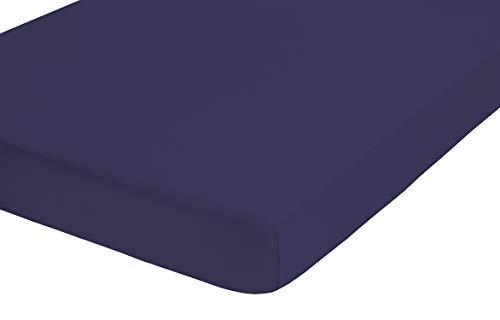 biberna 0012344 Frottee-Stretch Spannbetttuch (Matratzenhöhe max. 22 cm) (Baumwolle/Polyester) 90x190 cm -> 100x200 cm, kornblau