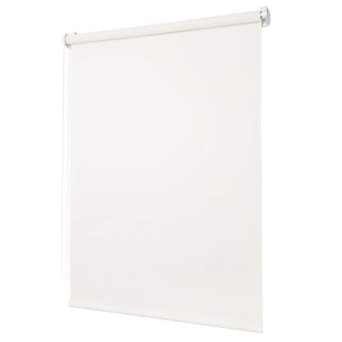 Ventanara Rollo ohne Bohren tageslicht Seitenzugrollo Klemmfix Fensterrollo (70 x 150 cm, Naturweiss)