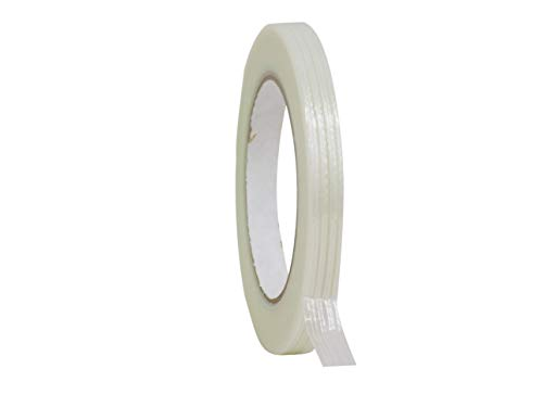 WOD UFST39 Fiberglass Reinforced Filament Strapping Tape, 1/2 inch Wide x 60 yds. - 4 Mil (Set of 1) Filaments Run Lengthwise (Available in Multiple Sizes)