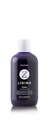 Kemon Liding Color Cold Champú hidratante para cabellos teñidos y rubios, champú de color con efecto antiamarilleo, 250 ml
