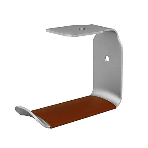 Soporte para auriculares Hangero de soporte de auriculares Montaje de pared de pared Auriculares Guardar espacio Soporte de soporte de aluminio duradero para la mayoría de los tamaños de auriculares S