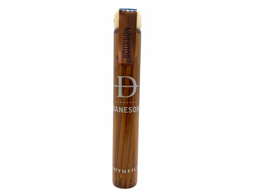 Daneson Bourbon Wooden Toothpicks Single Malt! Scotch Infused Flavored Toothpicks! Essence Of Barrel Aged Scotch In A Sliver Of Wood! Great Gift For Men!