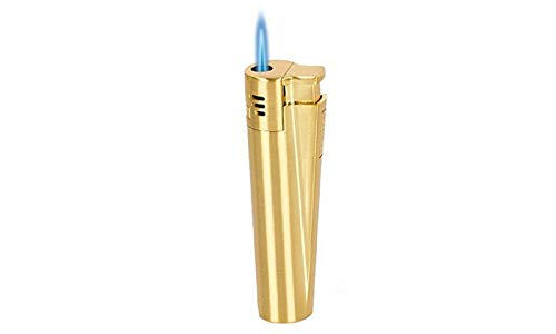 Classic Cigarette & Cigar Metal Torch Jet Lighter w/Gift Box in Gold