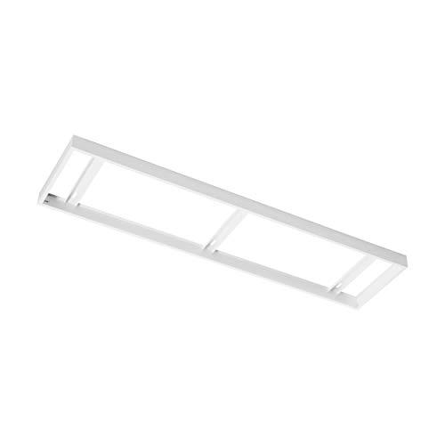 EGLO Aufbaurahmen Zubehör für EGLO SALOBRENA 1 - 303 x 1.205 x 5 cm - für Rasterleuchten und LED Panel - aus Stahl in weiß